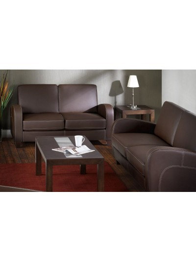 Julian Bowen Vivo 2 3 Seater Sofa In Chestnut Faux Leather