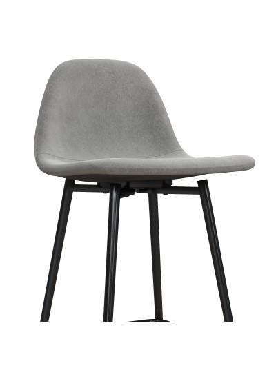 Dorel Calvin Upholstered Counter Stool - Velvet Grey