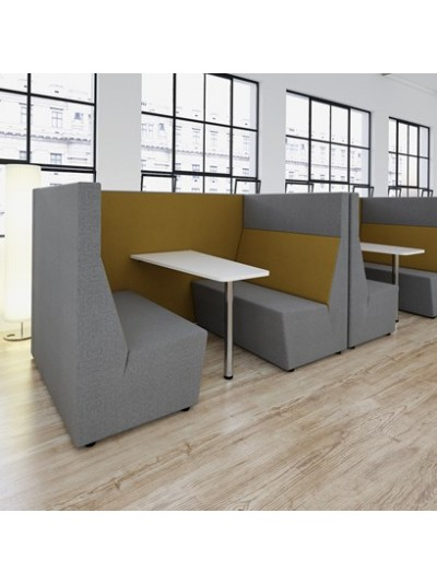 Ziggy high back 4 person meeting booth with table