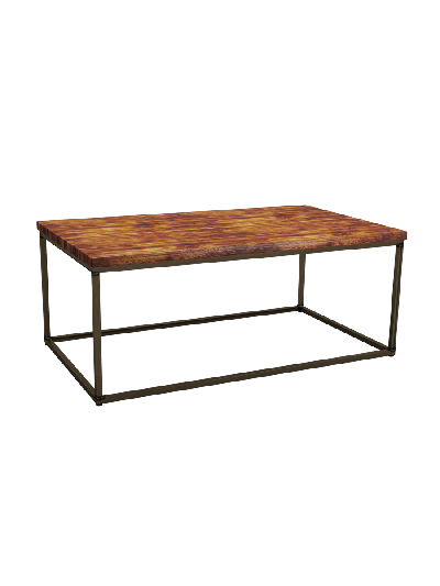 ZAP Industrial style Byron Rectangular pine coffee table