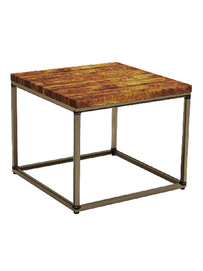 ZAP Industrial style Byron Square pine coffee table