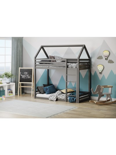 Flair Play House Grey or White Wooden Bunk Bed