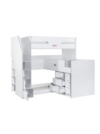 Flair Oscar Triple Bunk Bed with Storage