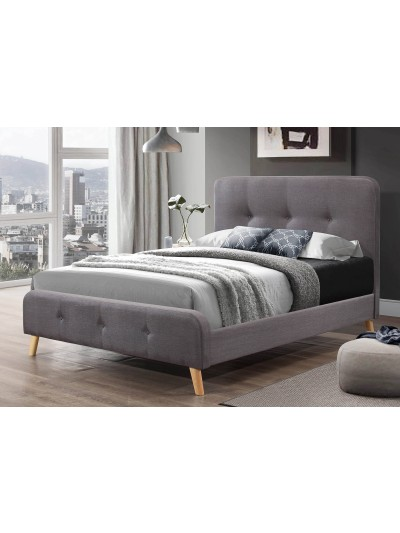 Flair Nordic Double Grey Linen Bed Frame