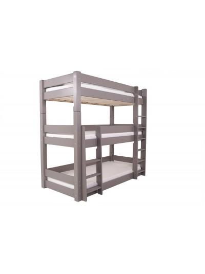 Flair Scandinavia Wooden Triple Bunk Bed in Grey