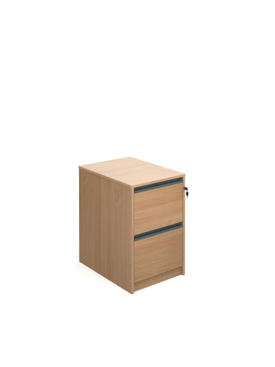 Filing cabinet with  graphite finger pull handles