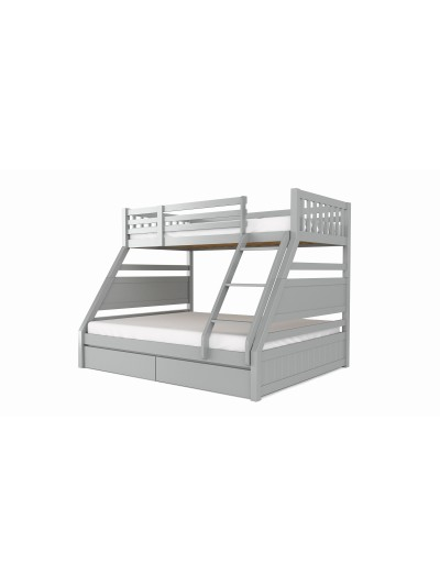 Flair Ollie Wooden Triple Bunk Bed in grey or white