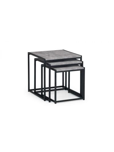 julian bowen Staten Nest of Tables Concrete Effect