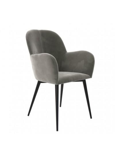 Dorel Fitz Accent chair in Grey velvet or Green velvet
