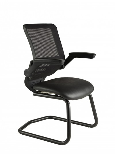 Alliance Mesh Back Cantilever Chair with Fold Back Arms