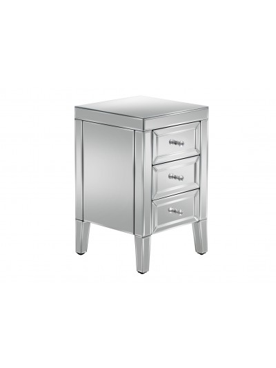 birlea Valencia Mirrored 3 Drawer Bedside