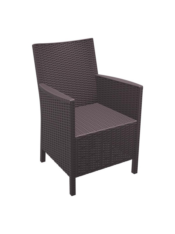 ZAP California Rattan Arm Chair - Brown