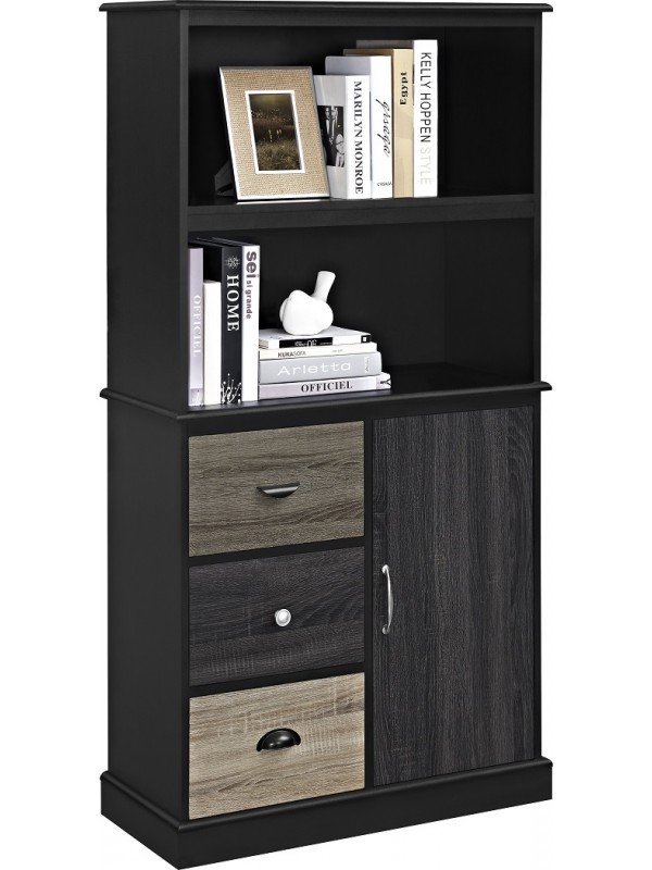 Dorel Mercer Storage Bookcase - Multi Coloured