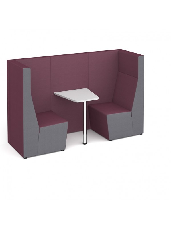 Ziggy high back 2 person meeting booth with table