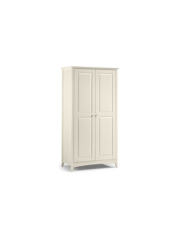 julian bowen Cameo 2 Door Wardrobe - Stone White