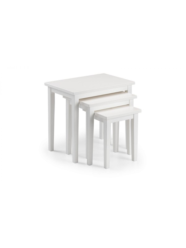 julian bowen Cleo Nest of Tables - White