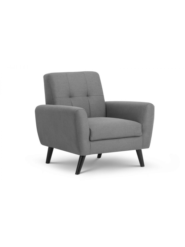 julian bowen Monza Retro Armchair Grey Linen Fabric
