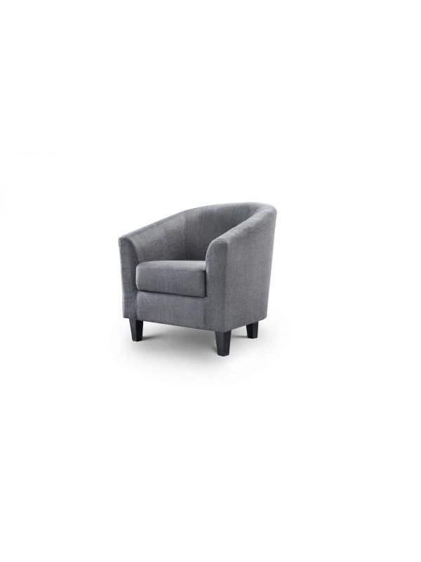 julian bowen Hugo Fabric Tub Chair - Slate Grey