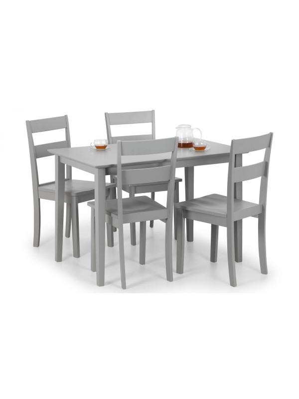 julian bowen Kobe Grey Dining Set