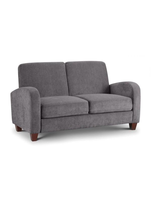 julian bowen Vivo 2 Seater Sofa in Dusk Grey Chenille