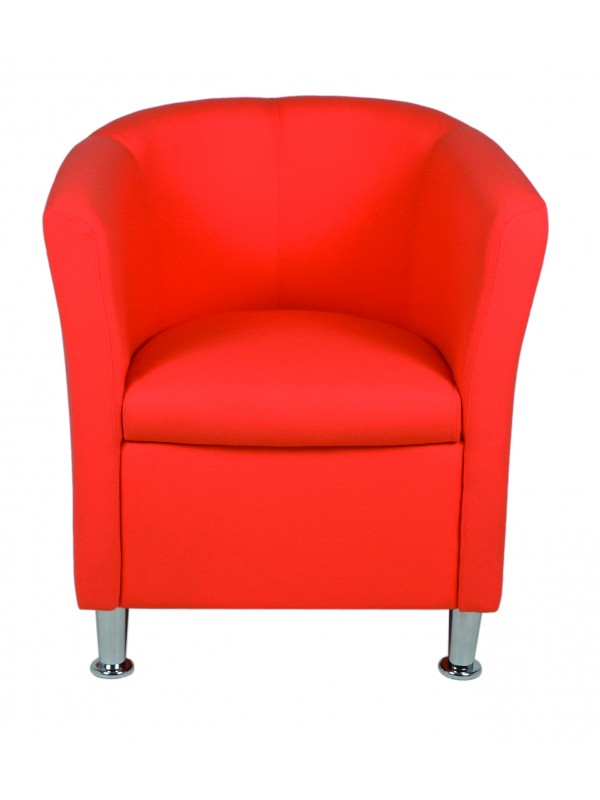 Alliance Click Tub Single Unit Tub Chair (Chrome Glides as Standard)