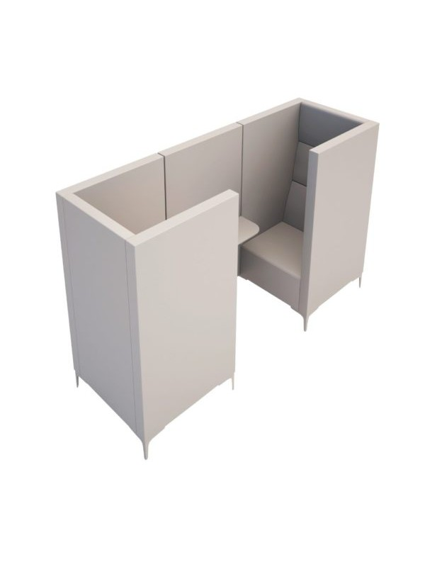 Orn Converse high back 2 person meeting booth with table