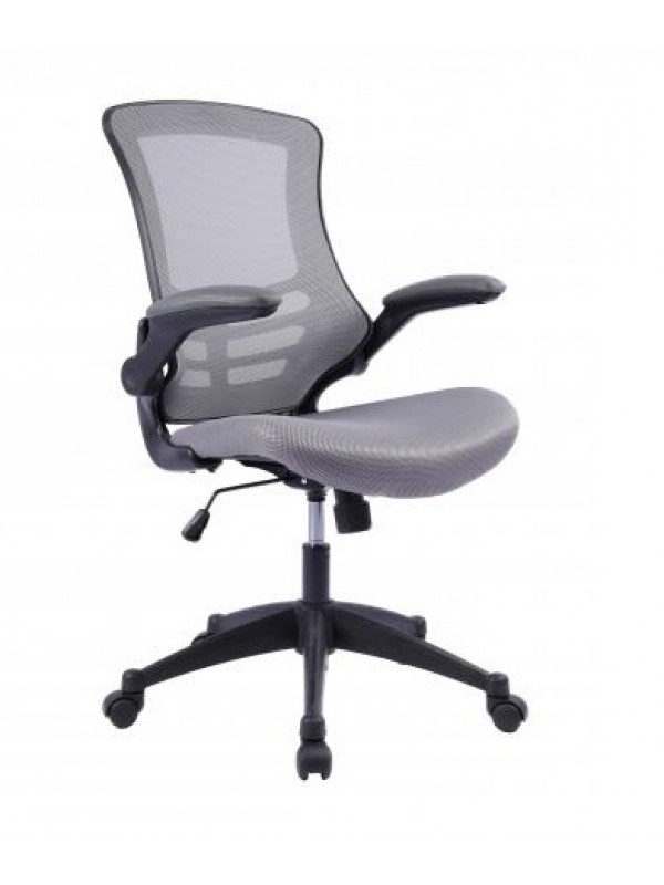 oI Best Seller Value Deluxe Mesh Operator Chair in Grey