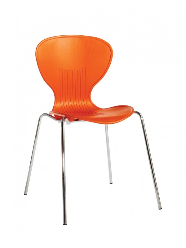 Sienna one piece shell chair (pack of 4) with chrome legs