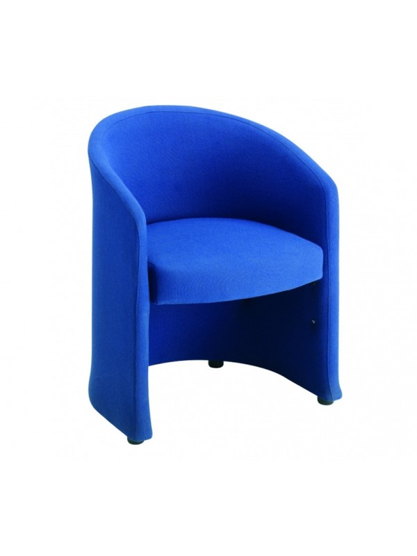 Slender fabric 1 and 2 seat tub chairs