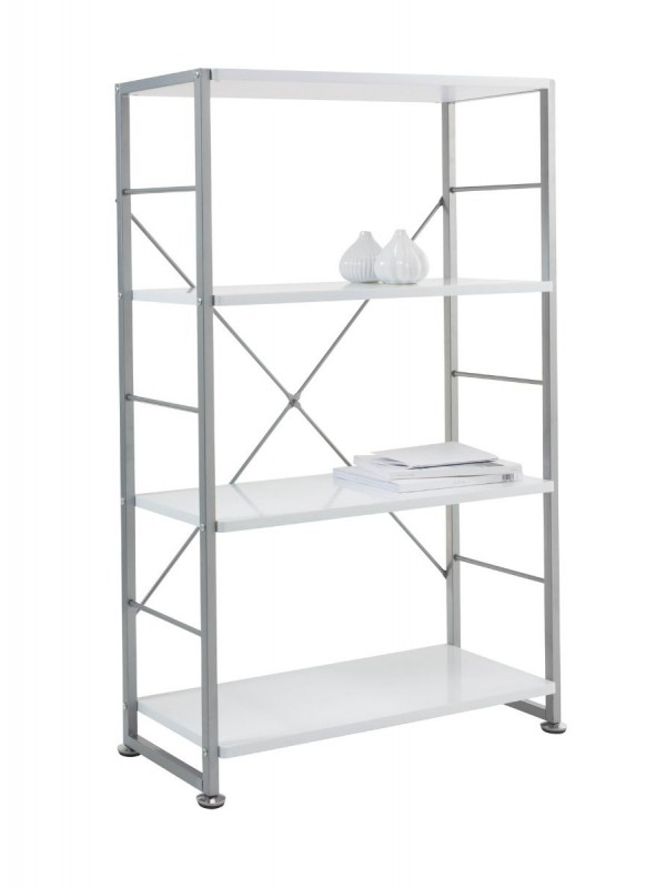Alphason Cabrini Home Office White Tall Bookcase
