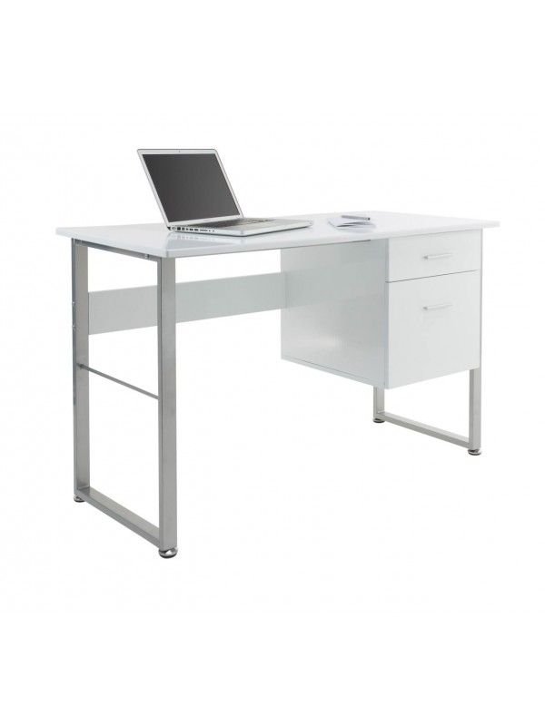 Alphason Cabrini Home Office White Pedestal Desk