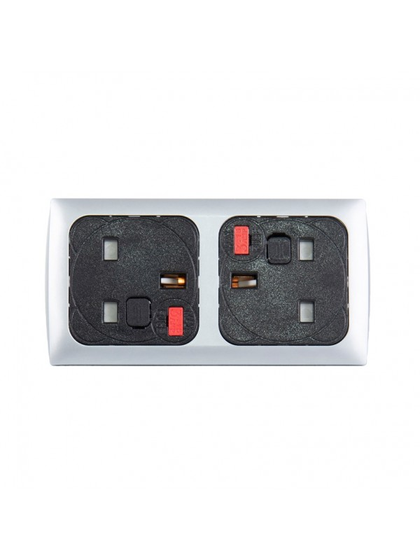 DAMS Proton panel mounted power module 2 x UK sockets