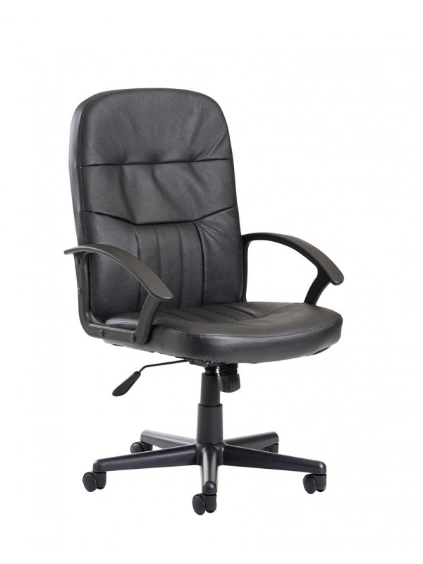 Cavalier high back managers chair Leather Faced