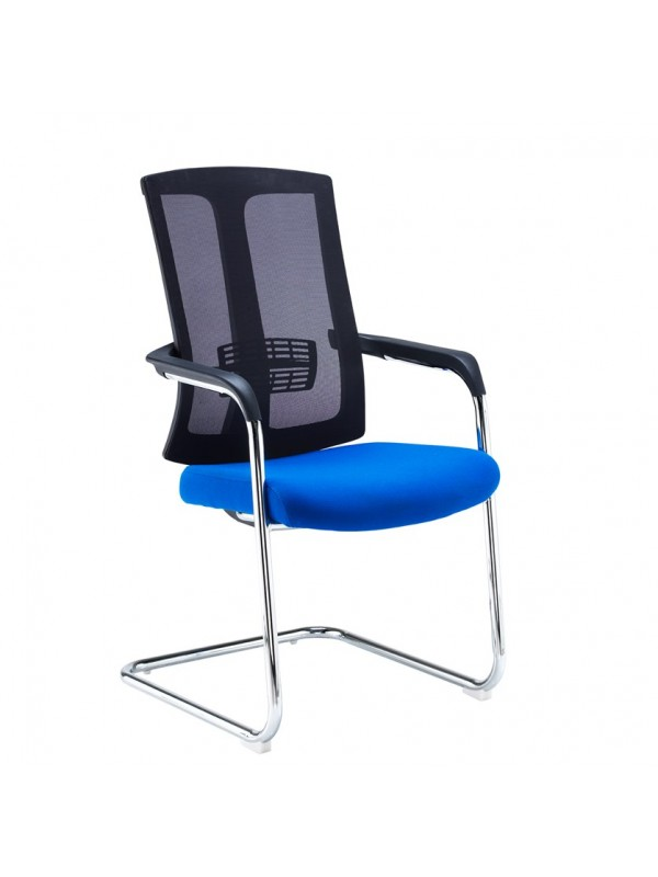 Ronan chrome cantilever frame conference chair with mesh back