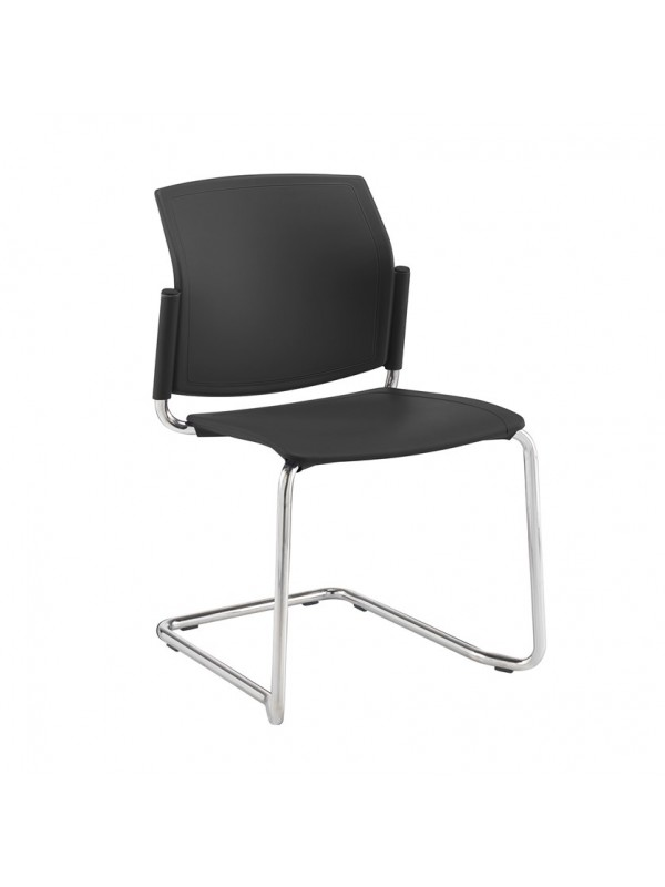 Dams Santana cantilever chair with plastic seat and back