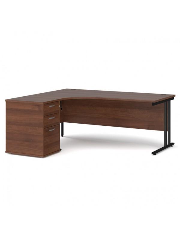 Big Deals Dams 1400mm Ergo Desk with 3 Drawer Pedestal