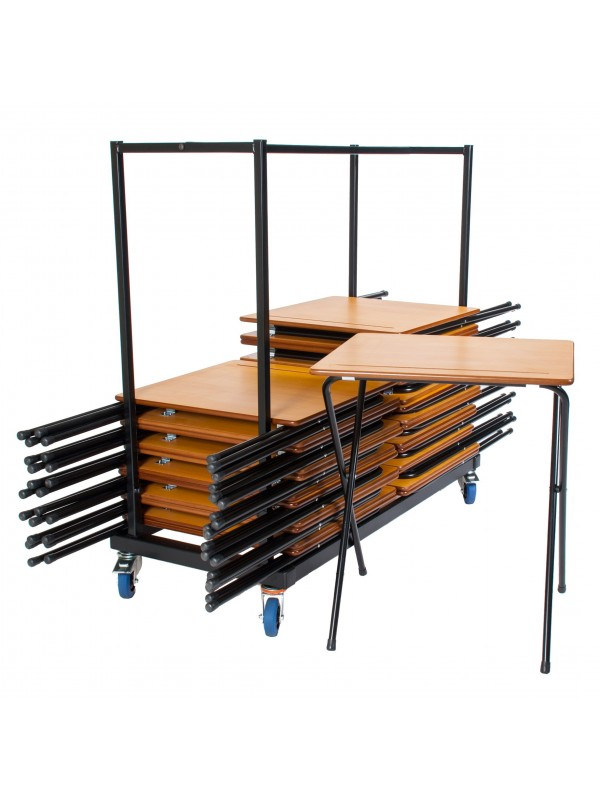 Zlite 40 x Folding Exam Desks & Trolley Deals, Beech or Grey