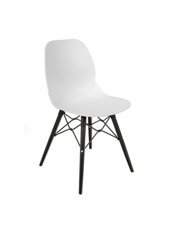 Strut multi-purpose chair with black oak 4 leg frame and black steel detail