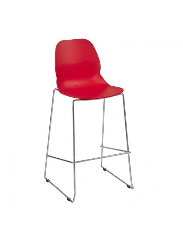 Strut multi-purpose stool with chrome sled frame