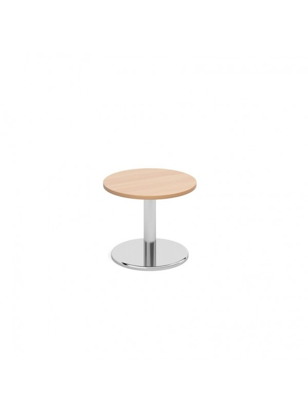 Pisa circular coffee table with round chrome base