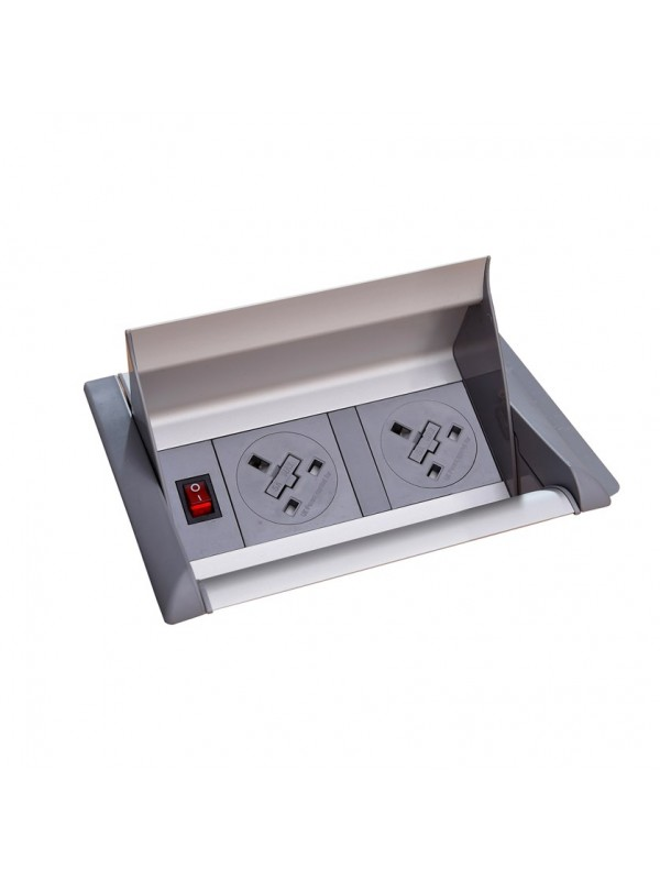 DAMS Aero fliptop in-table power module 2 x UK sockets