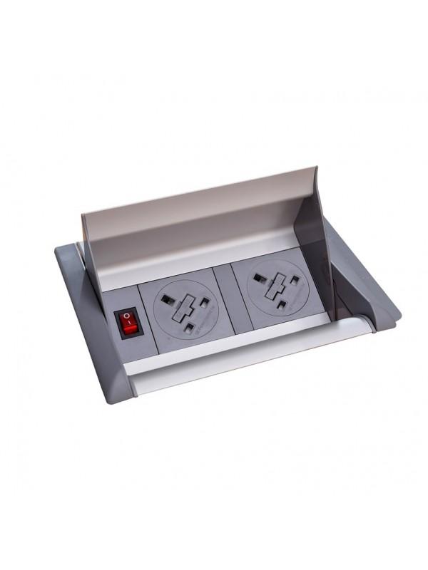 DAMS Aero fliptop in-table power module 2 x UK sockets