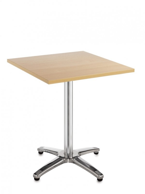 Roma square dining table with 4 leg chrome base