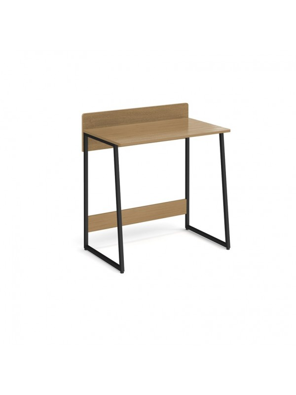 Big Deals Kyoto home office workstation with upstand - Summer oak