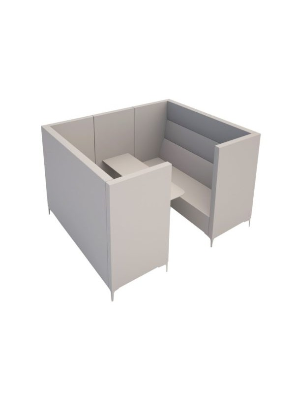 Orn Converse high back 6 person meeting booth with table