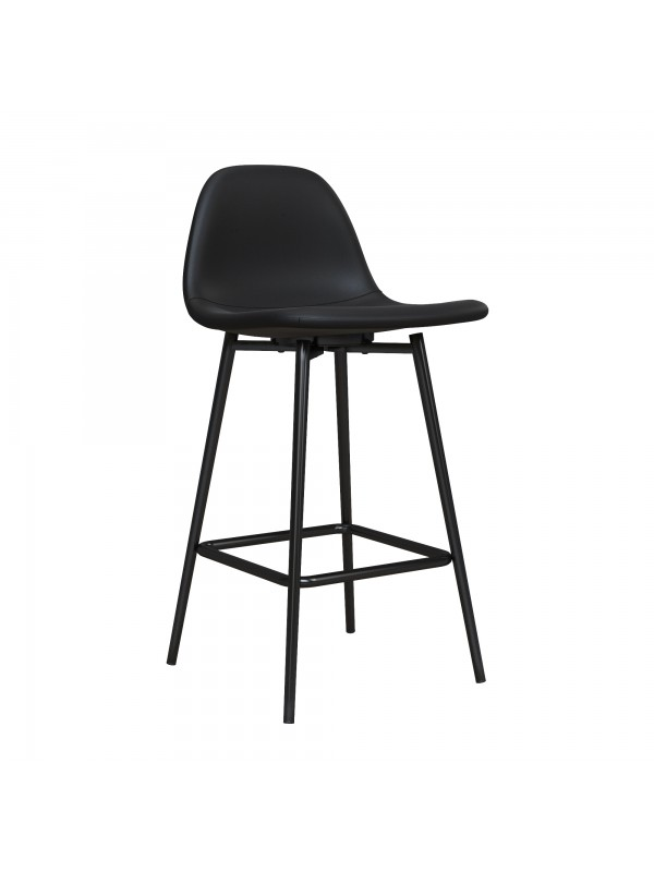 Dorel Calvin Upholstered Counter Stool - PU Black