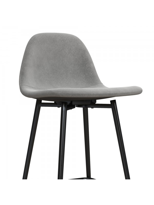 Dorel Calvin Upholstered Counter Stool - Velvet Grey