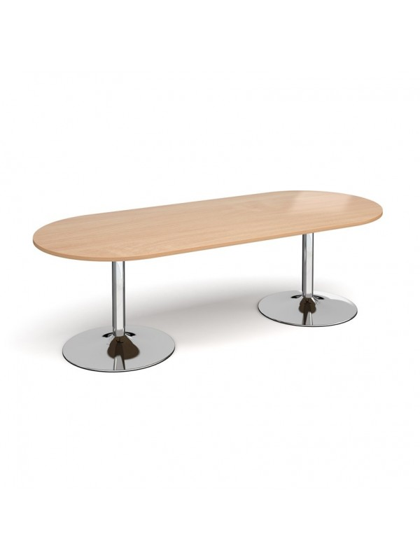 DAMS Trumpet base radial end boardroom table