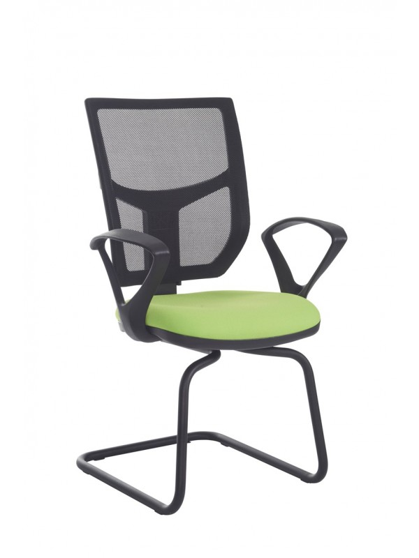 Altino mesh back visitors chair with fixed arms