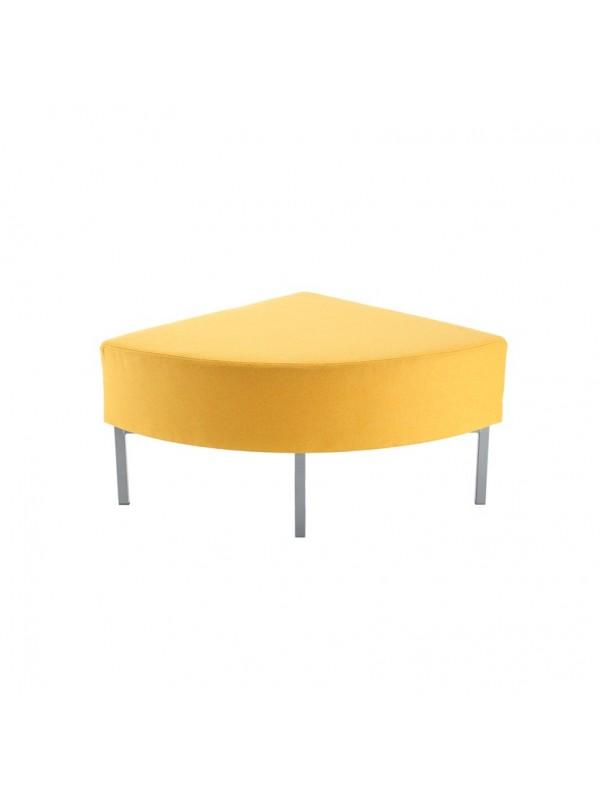 Kraft modular soft seating corner unit fully upholstered